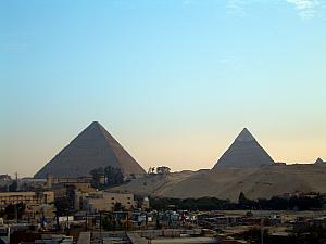 The pyramids, as seen from our hotel's balcony