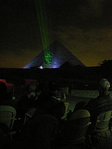 The Giza Pyramids Sound and Light show.