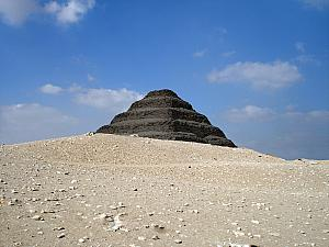 The Step Pyramid at Sakkara. The first pyramid ever built!