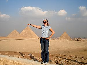 You couldn't possible visit the pyramids without doing this, could you? Well, Kelly couldn't resist.
