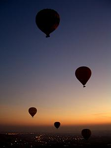 We were in the air with seven other balloons for our sunrise balloon ride!