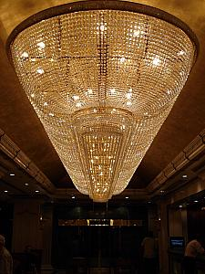 This was a giant chandelier that Kelly and Mom Klocke admired in our hotel's lobby.