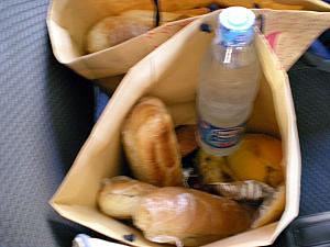This was an example of our boxed lunch that we were given during our day-long excursions. There are three 10inch rolls/sandwiches in each bag, not to mention fruit and yogurt and water and juice!
