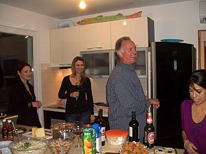 At the party - the party hosts Patrick and Sondra along with Paula and Elisa.