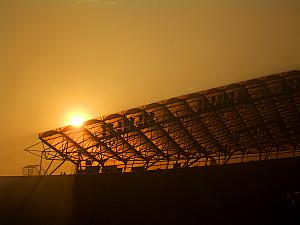 Sunset over Poljud Stadium.