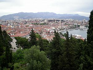 Panoramic viewpoint of Split, from Cafe Vidilica.