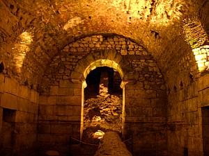 Inside the Diocletian Palace basement (Podrum).