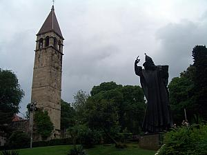 Mestrovic's sculpture of the Bishop. Rub his big toe for good luck!