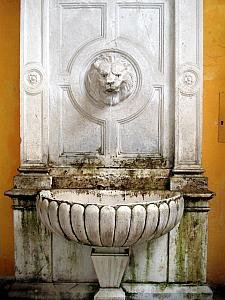 Fountain with drinking water, in the palace - in 300AD, water flowed to here from an aqueduct many miles away.