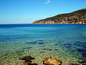Beach on Vis in the town of Komiza