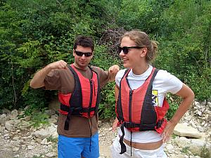 Mario and Milda sporting their awesome life jackets