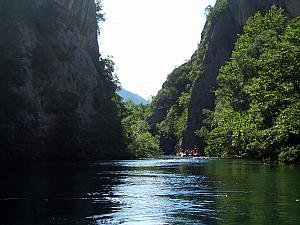 Rafting through Cetina River canyons