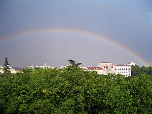 Rainbow in Madrid! (sadly, not a double rainbow...)