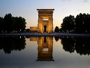 The Temple of Debod, at dusk