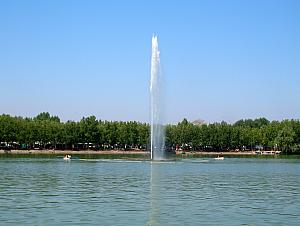 Lake and Fountain in West Park (Parque del Oeste)