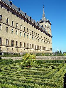 The gardens at El Real Monasterio del El Escorial