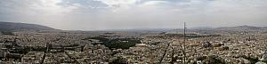 Panoramic view of Athens from Lykavittos Hill. Athens is just an enormous sprawling city.