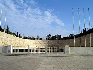The Panathinaiko Stadium. Built for 1896 Olympics, it is the only major stadium in the world built entirely of white marble.