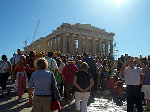 The Parthenon, and the crowds!