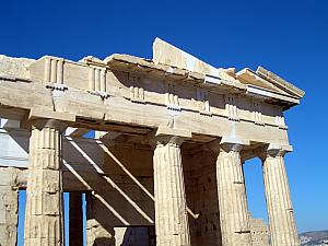 Close-up of the Parthenon.