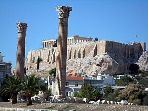 The Temple of Olympian Zeus and the Acropolis