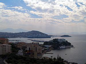 View of Kusadasi's seafront and our cruise ship.