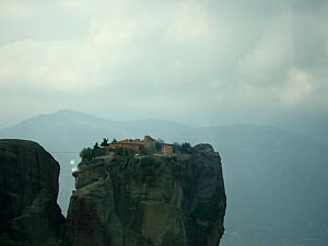 Meteora Monasteries - view as our bus made its way to the next monastery.