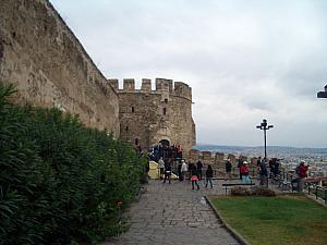 Fortress at the top of Thessaloniki.