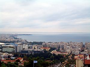 View of Thessaloniki from the fortress.