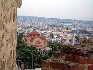 Thessaloniki from the fortress.