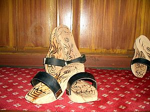 Wooden Klogs - we all had to wear these around the Hamam.