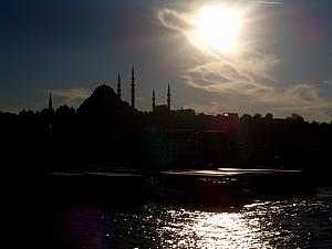 Istanbul as the sun began to set.