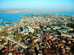 View of Istanbul from the sky