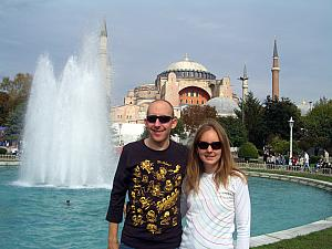 Jay and Kelly in front of Hagia Sophia