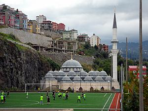Soccer and a Mosque.