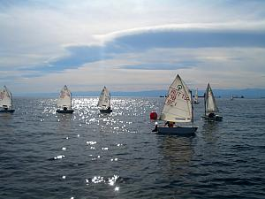 We saw a group of mini-sailboats with children learning how to sail. Made us think of Split - we saw these out all the time!