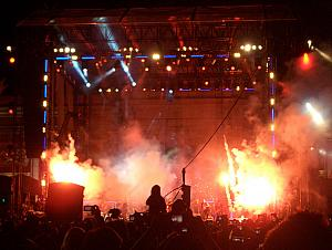 "Fireworks during Katy Perry's performance of ""Firework""."