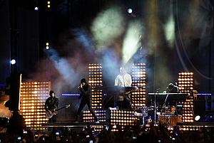 Linkin Park on stage - Photo Credit Carla GM at Flickr.