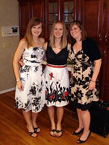 Kelly's 10 Year Lakota West High School class reunion - Kelly, Jenny and Erin.