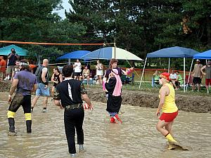 Mud Volleyball in Cleveland, OH -- one of the opponents