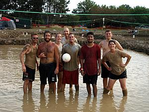 Mud Volleyball in Cleveland, OH: most of our team worked with Kevin at Progressive.