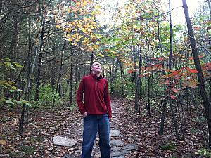 While hiking at Caesar Creek State Park, Jay is pondering the deeper meaning of life.