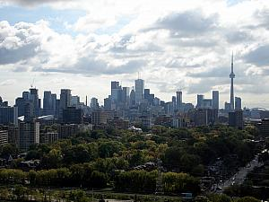 View of the city from the  tower at Casa Loma
