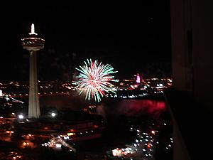 There is a five-minute fireworks show every Friday night over the American Falls. We enjoyed from the comfort of our hotel room!