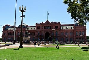 Buenos Aires - the Casa Rosada, Argentina's presidential building. Evita gave her famous speech from a balcony here.