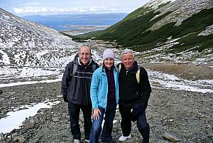 Ushuaia - hiking in the Martial Glacier valley - near the top of our hike!