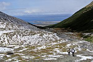 Ushuaia - hiking in the Martial Glacier valley - on our way back down.