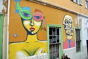 Valparaiso, Chile - the city is full of funky graffiti