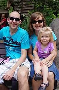 Cincinnati Zoo: Jay, Kelly and Cardin