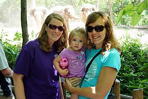 Cincinnati Zoo: Sara, Cardin and Kelly